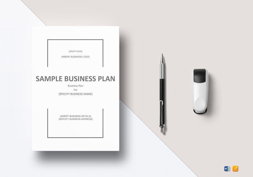 Sample Business Plan Template in Word  Google Docs  Apple Pages Sample Business Plan Template