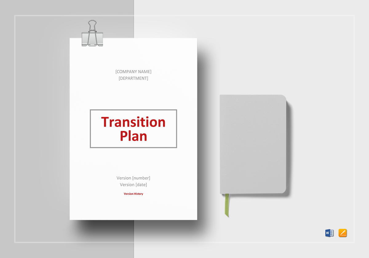 Transition Plan Template In Word Docs Apple Pages