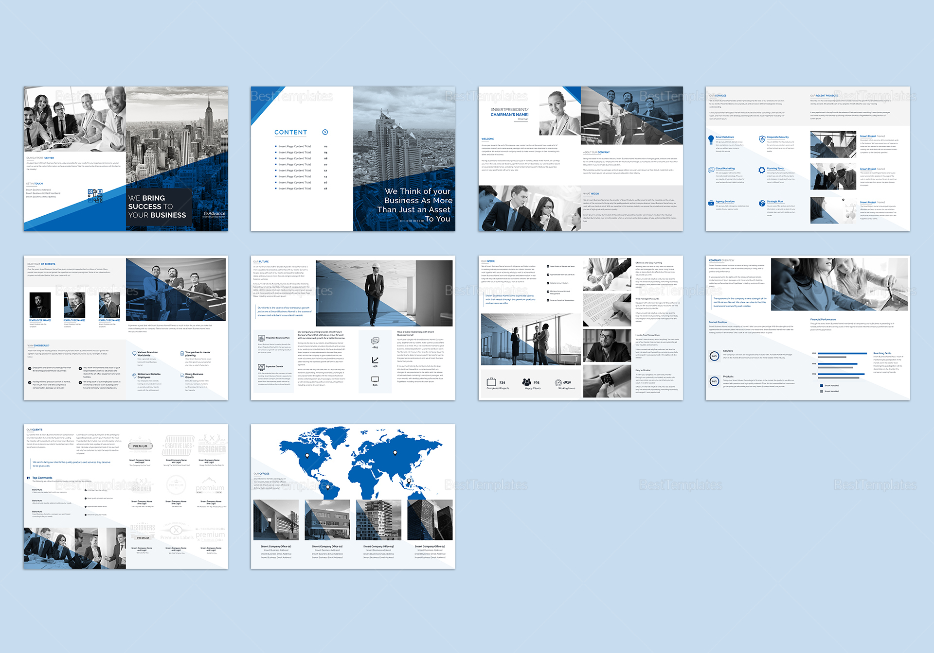 Business Catalog Template In Psd Word Publisher
