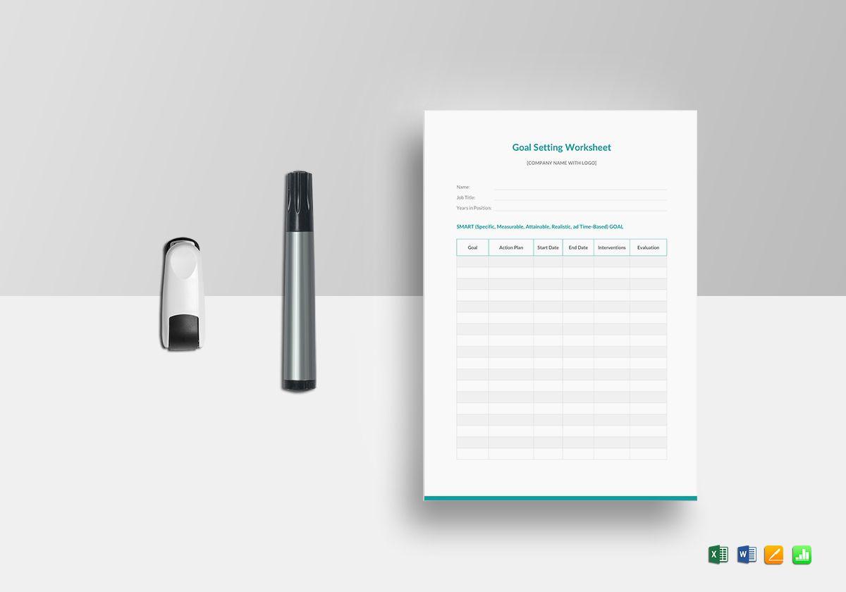 Goal Setting Worksheet Template In Word Excel Apple