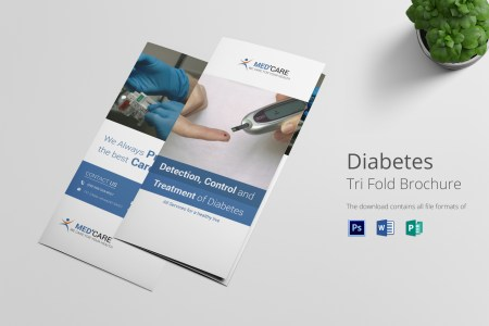 Diabetes Brochure Trifold Design Template in Word  PSD  Publisher Diabetes Brochure Trifold  Diabetes Brochure Trifold Template