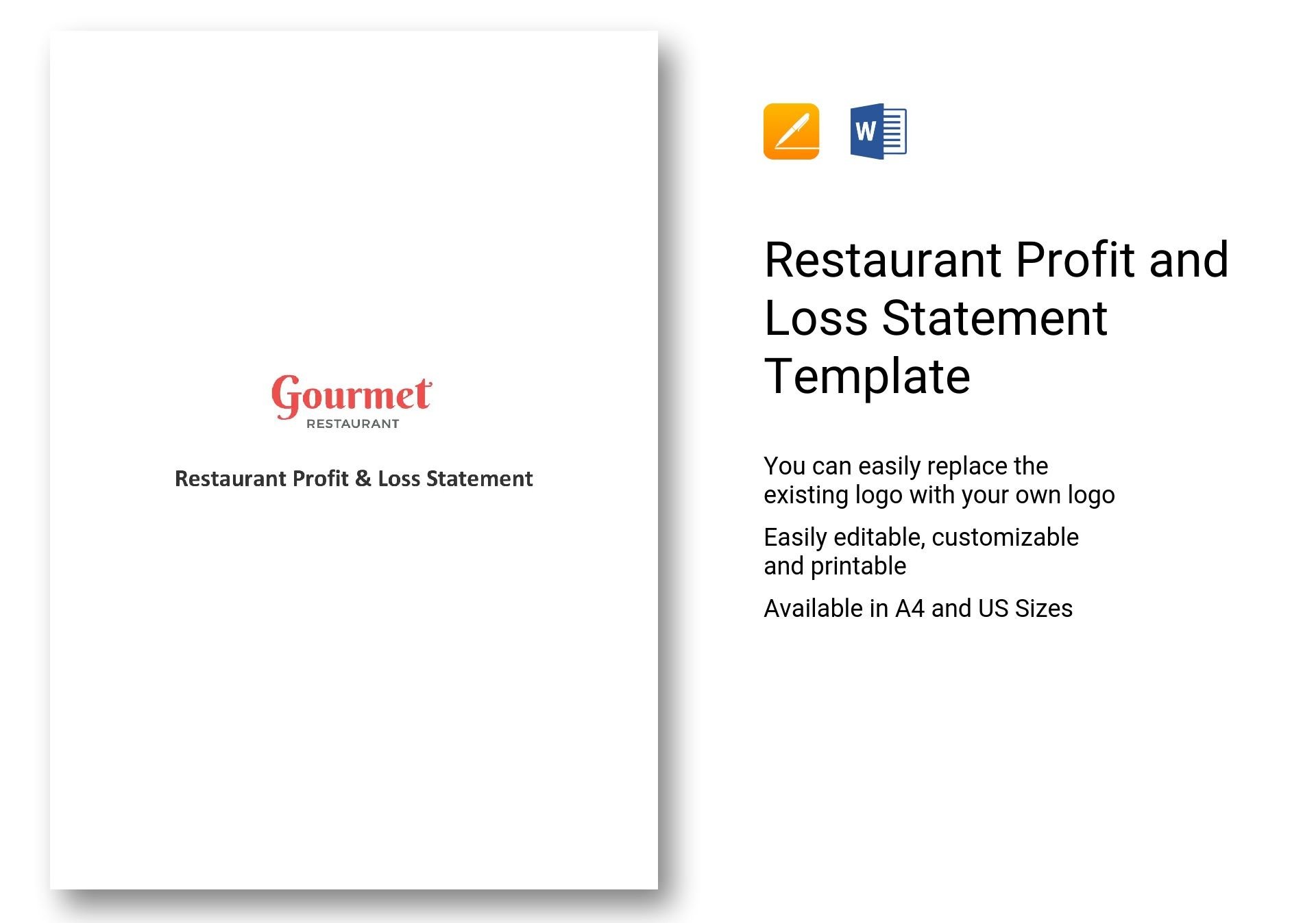 Restaurant Profit And Loss Statement Template In Word
