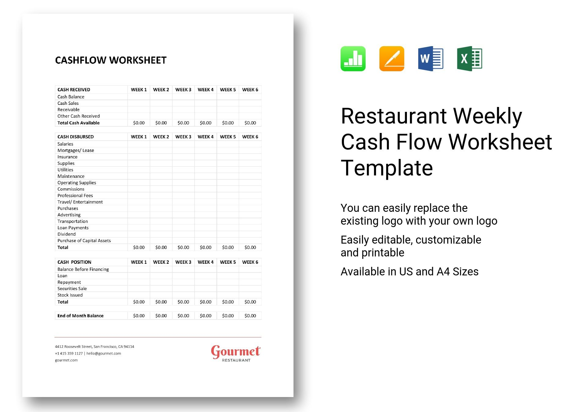 Example Worksheet On Production Cost