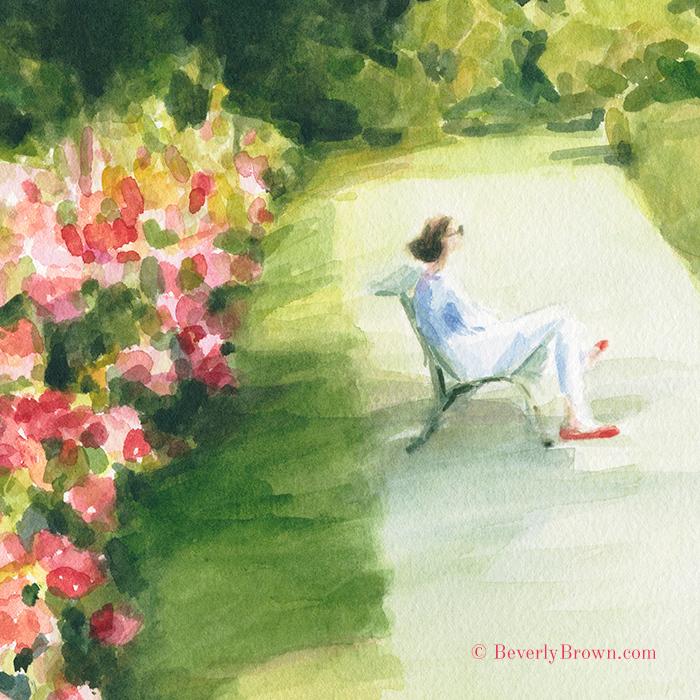 a7da65e586b Paris Artwork Watercolor Sketches - Beverly Brown Artist