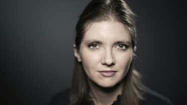 Aurore Bergé pose pour l'AFP en janvier 2018