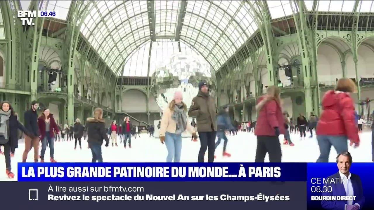 la plus grande patinoire interieure au monde au grand palais enchante parisiens et touristes