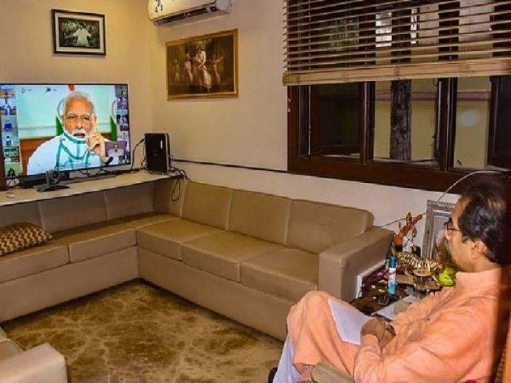 अन्य मुख्यमंत्रीयों के साथ CM उद्धव और PM मोदी के बीच यह बैठक वीडियो कांफ्रेंसिंग के माध्यम से होगी। (फाइल फोटो) - Dainik Bhaskar