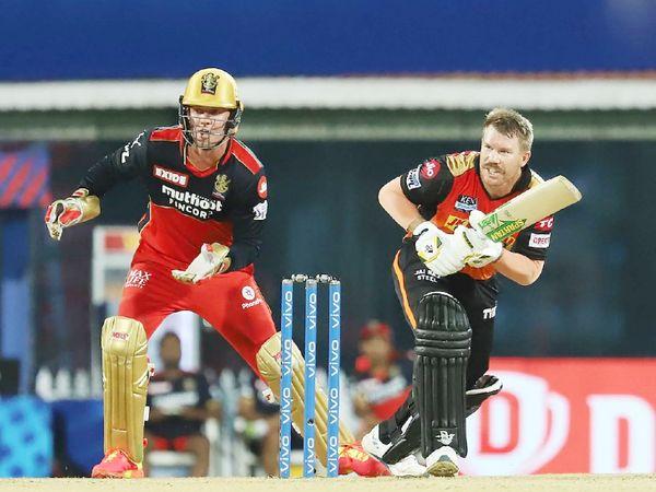 David Warner scored the most runs for Hyderabad.  He scored 54 runs off 37 balls.  Jameson took his wicket.