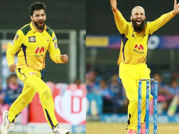 Chennai all-rounders Ravindra Jadeja and Moin Ali gave Rajasthan 5 shocks in 4 overs and overturned the match.