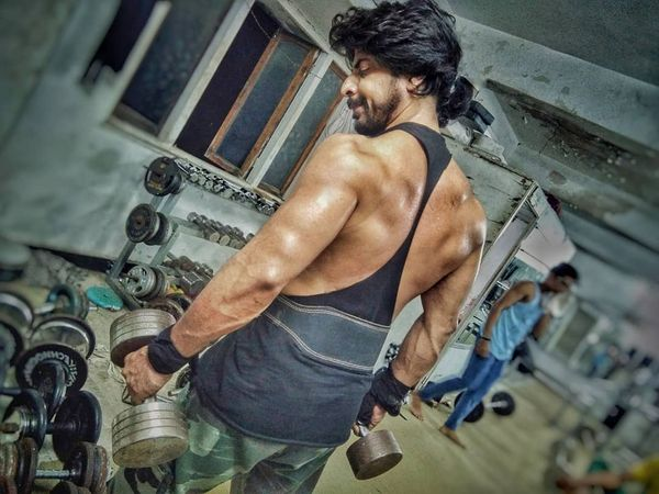 Ibrahim Qadri during a workout session at the gym.