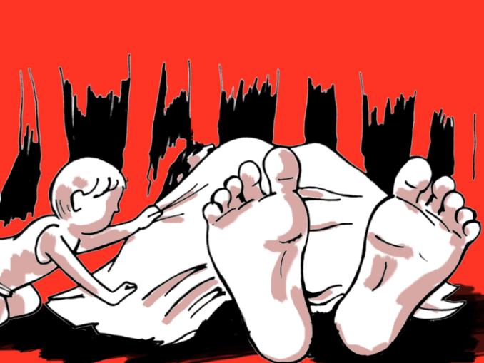 महिला की मौत होने के शक के बाद पुलिस को सूचना दी गई। पुलिस ने मामला दर्ज कर शव पोस्टमॉर्टम के लिए भेज दिया। - Dainik Bhaskar