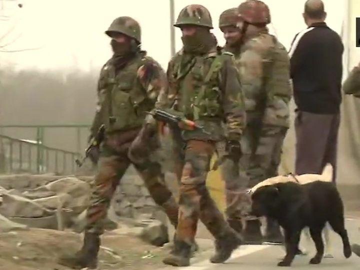 सुरक्षाबलों ने आस-पास के इलाकों को घेरकर सर्च ऑपरेशन शुरू कर दिया है। - Dainik Bhaskar