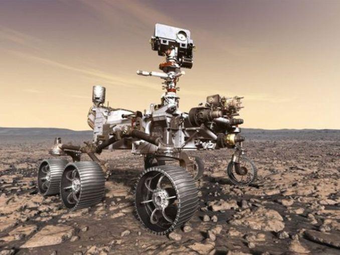 नासा का पर्सीवरेंस रोवर पिछले हफ्ते मंगल पर पहुंचा था। इसकी लैंडिंग के ऑडियो और वीडियो सामने आ चुके हैं। - Dainik Bhaskar