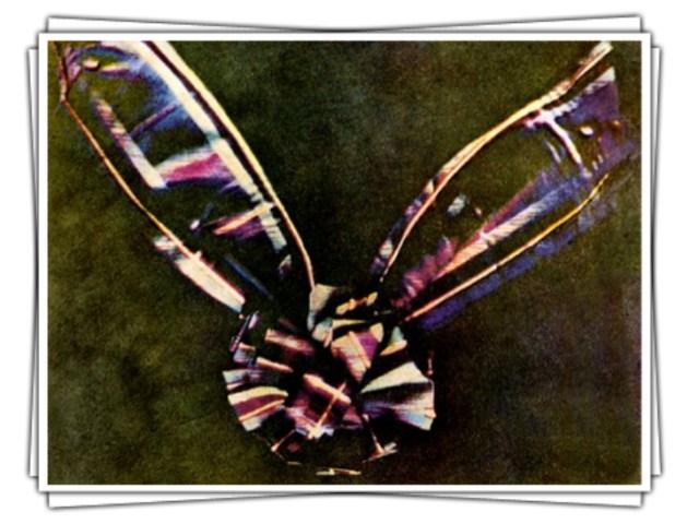 दुनिया की पहली रंगीन तस्वीर, जिसे जैम्स क्लार्क मैक्सवेल ने 1861 में कैप्चर किया था।