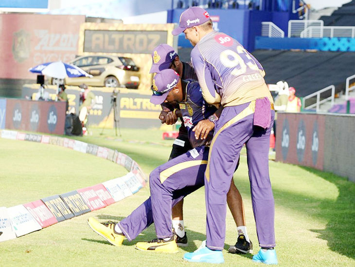 Kolkata all-rounder Andre Russell was out of the match due to injury.