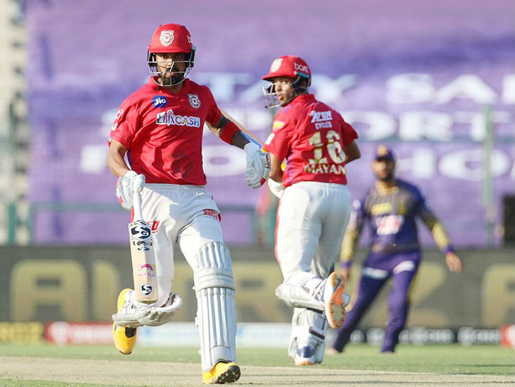Kings XI Punjab captain Lokesh Rahul scored the highest 74 against Kolkata.  However, they could not win the match.