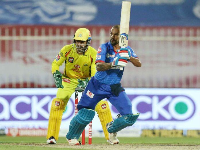 दिल्ली के ओपनर शिखर धवन ने 58 बॉल पर नाबाद 101 रन की पारी खेली।