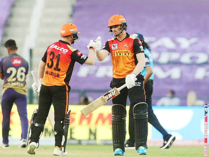 Warner partnered 22-ball 37 with Abdul Samad to take the team to the target.