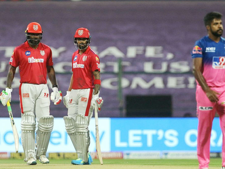 Chris Gayle and Punjab captain Lokesh Rahul shared 120 runs for the second wicket.  Rahul scored 46 runs.