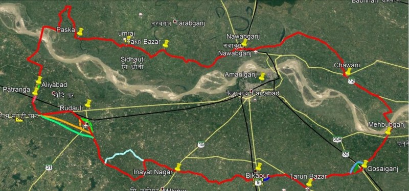 Parikrama Marg spreads for 275.35 km in 5 districts, in which Gonda district including Ayodhya, Barabanki, Ambedkar Nagar also comes.