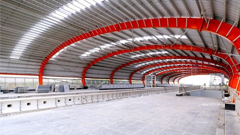 Such is the view of the metro station from inside.