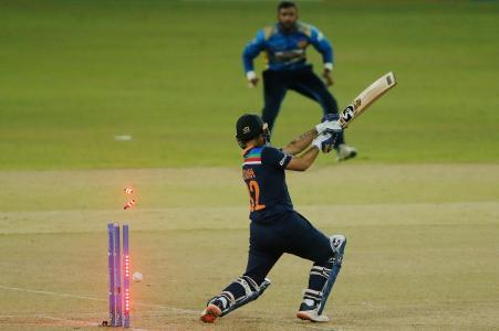 Kasun Rajitha bowled the hero of the previous match, Ishaan Kishan.  He returned to the pavilion after scoring 1 run.