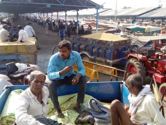 सोयाबीन बेचने आए किसान एनपीके के लिए परेशान हो रहे हैं। - Dainik Bhaskar