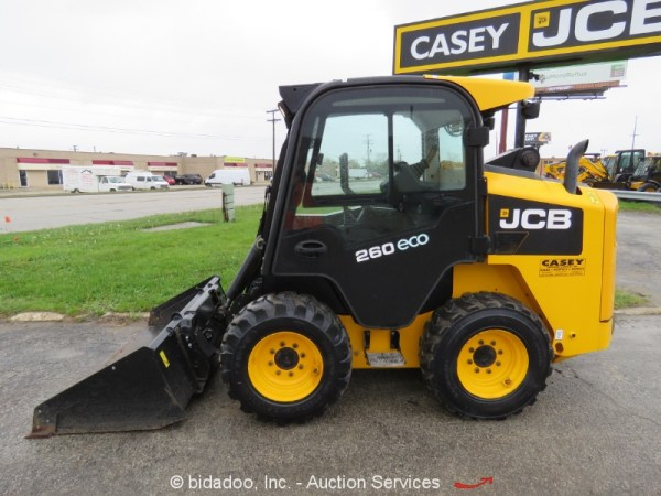 2015 JCB 260 ECO Skid Steer Wheel Loader A/C Cab Hyd Q/C ...