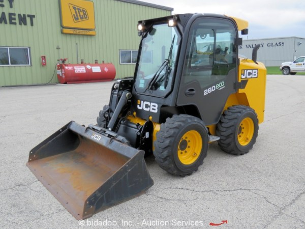 2016 JCB 260 ECO Skid Steer Wheel Loader A/C Cab Hyd Q/C 2 ...
