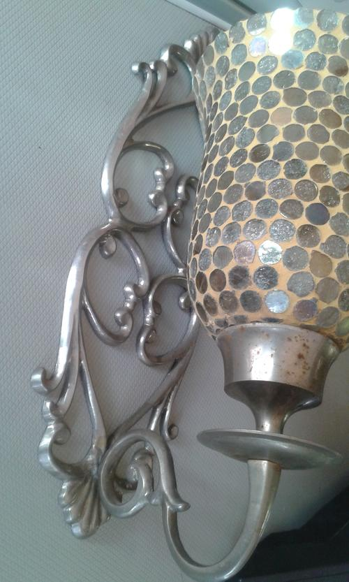 Candlesticks & Candle Snuffers - Beautifull Vintage Silver ... on Silver Wall Sconces For Candles id=98275