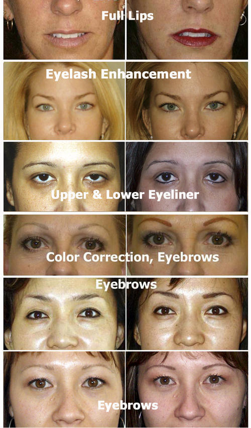 Professional permanent makeup/tattoo kit. 1.Excellent eyeline,eyebrow