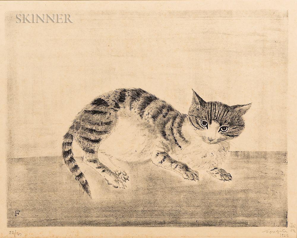Léonard Tsuguharu Foujita (French/Japanese, 1886-1968) Chat assis de face