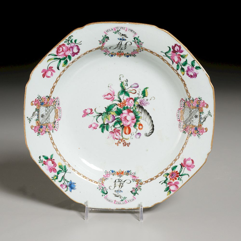 "Chinese Export Porcelain ""Stewart"" Armorial Plate"