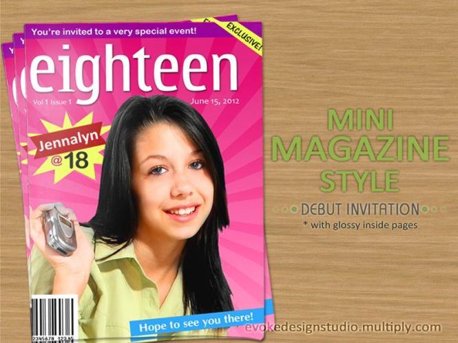 Magazine Save The Date Custom Invite