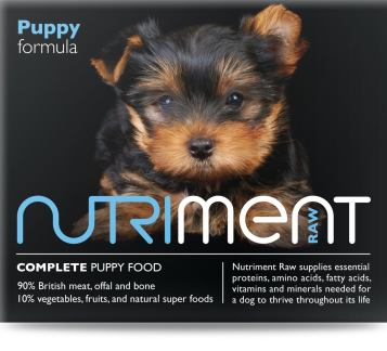 Nutriment raw dog food puppy