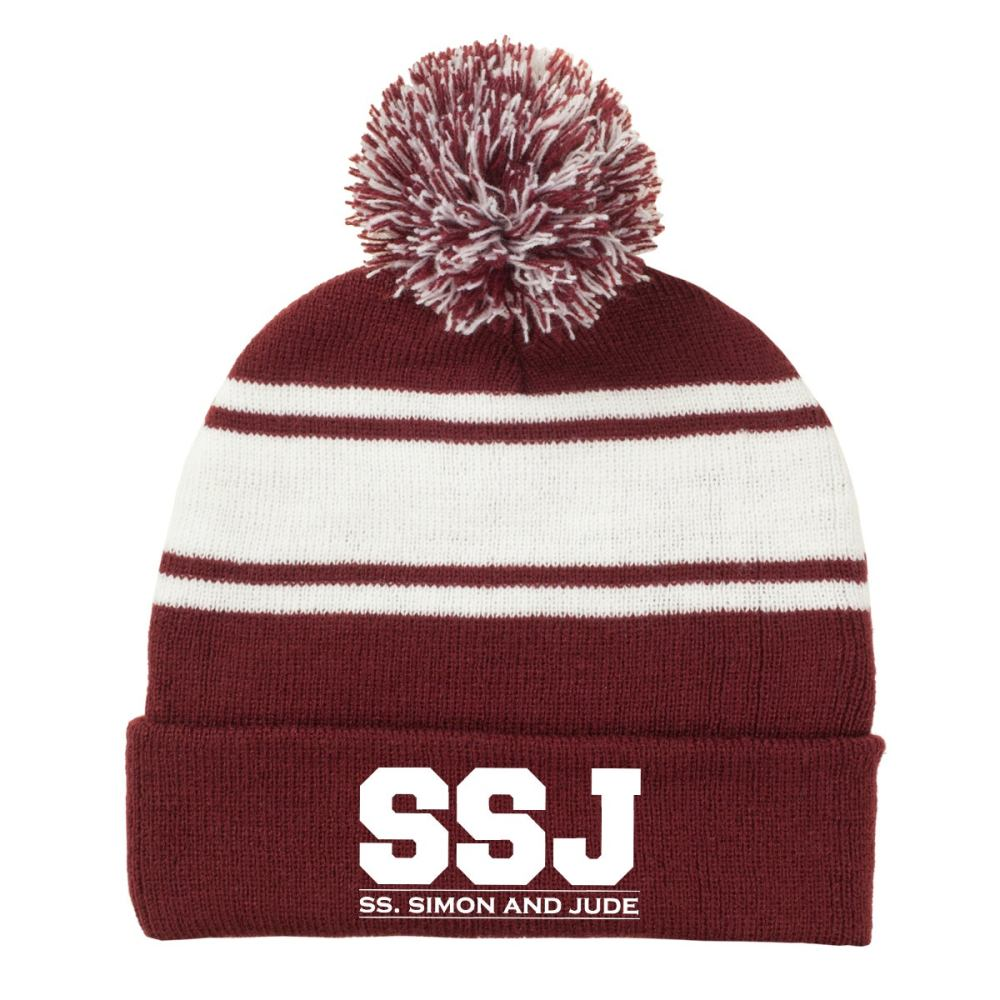 Saints Knit Hats With Pom