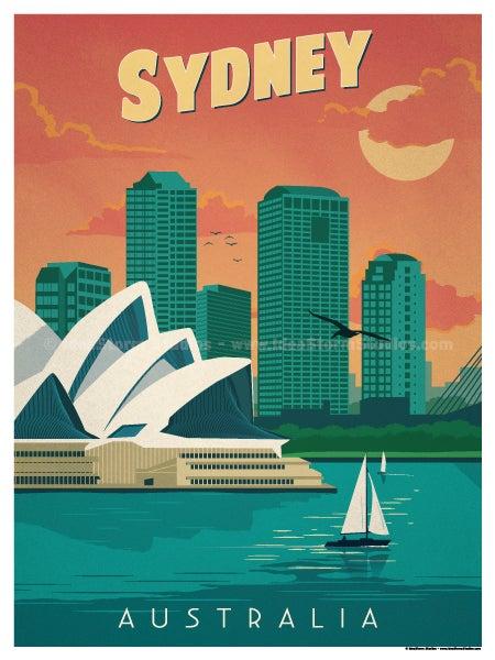 IdeaStorm Studio Store Vintage Sydney Poster