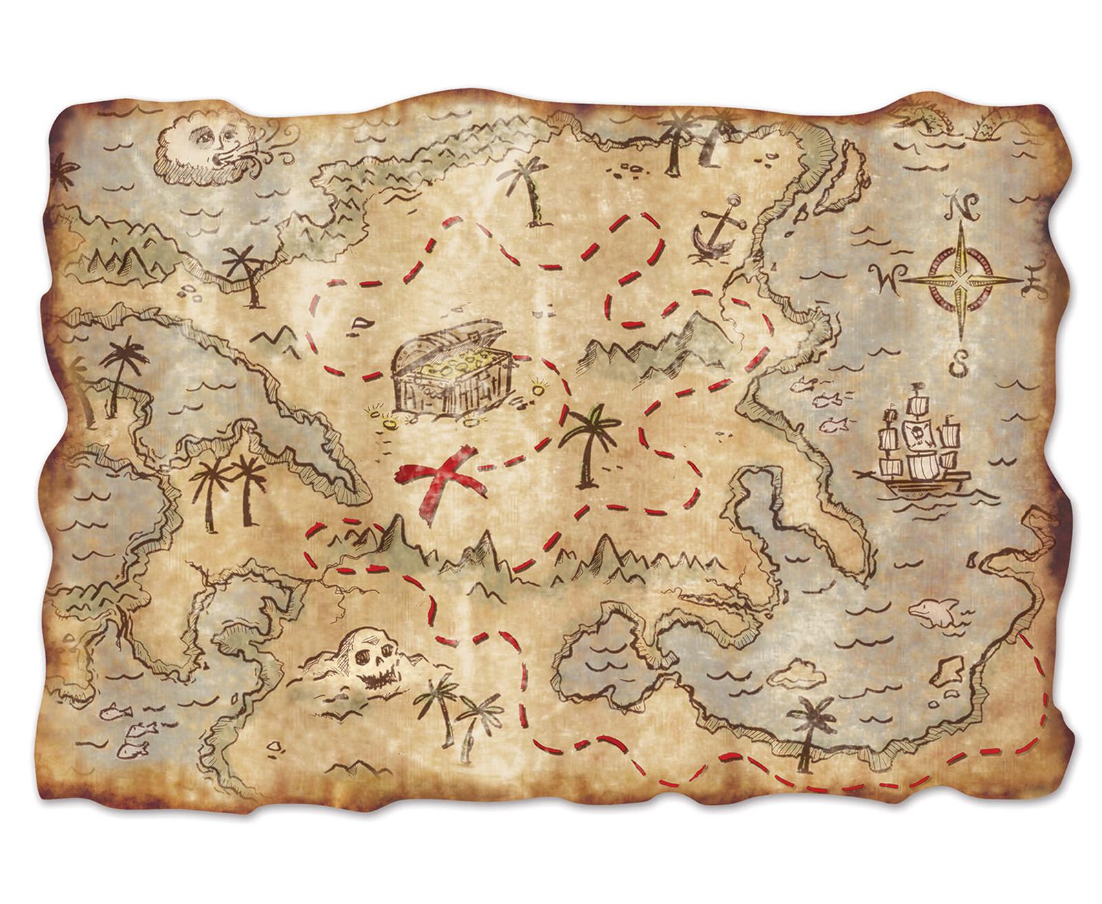 Jumbo Treasure Map Cutout