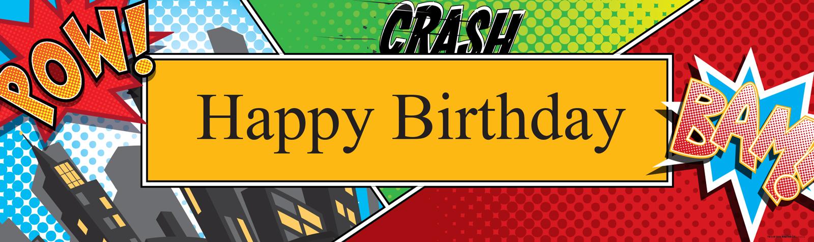 Superhero Comics Birthday Banner Birthdayexpress Com