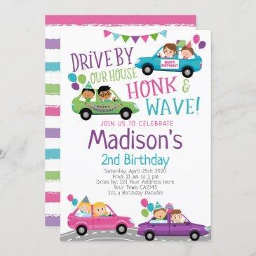 drive through birthday invitations