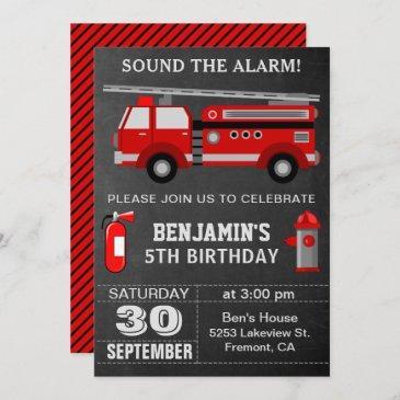 firefighter birthday invitations