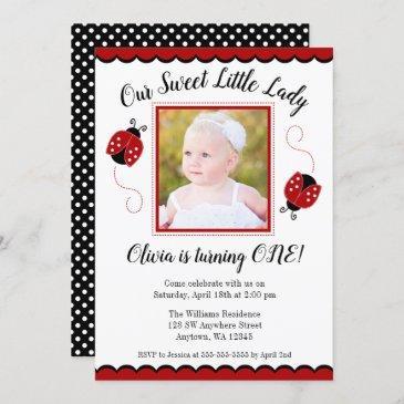 ladybug birthday invitations