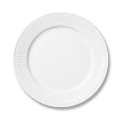 Royal Copenhagen White Fluted Plain SaladDessert Plate