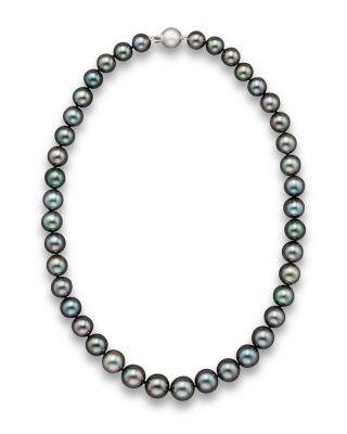 Tahitian Black Pearl Necklace 18 Bloomingdales