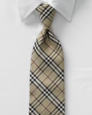 Burberry Twill Classic Check Tie