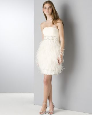 Sue Wong silk feather dress