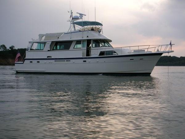 1986 Hatteras Cockpit Motor Yacht Boat For Sale 1986