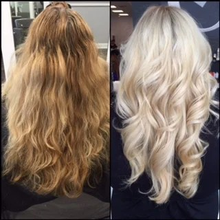 TRANSFORMATION Grown Out Faded Blonde To Modern Metallic