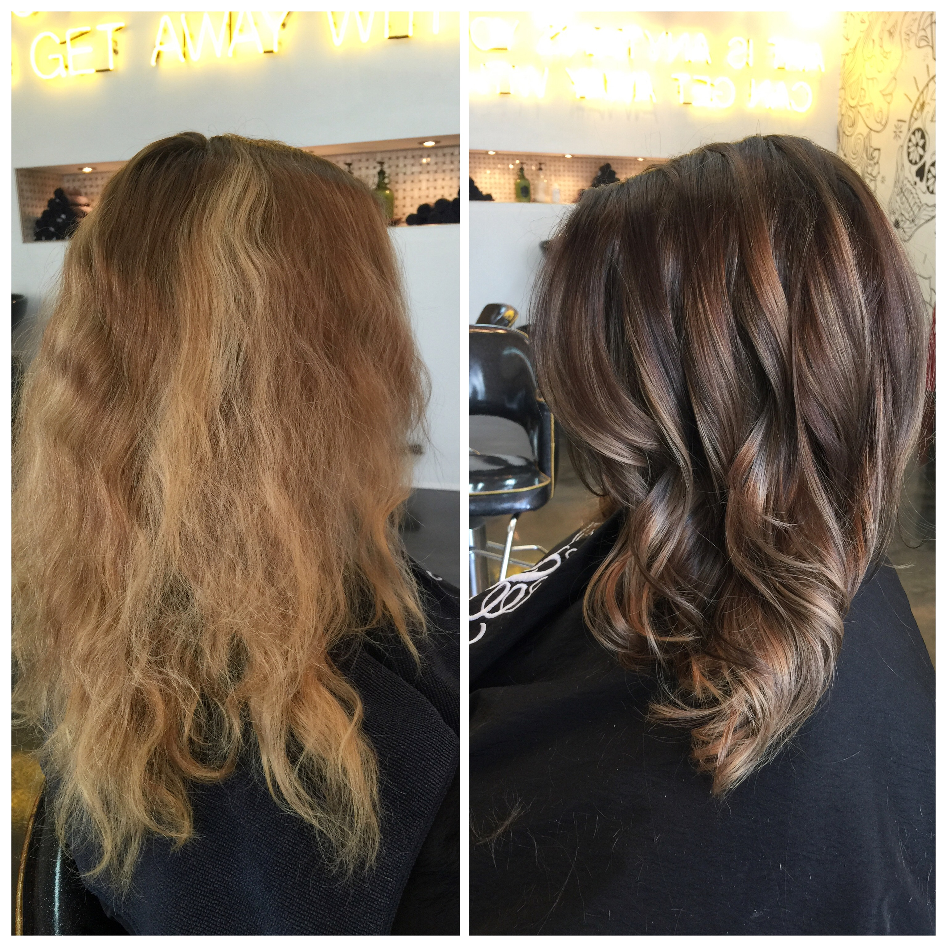 TRANSFORMATION Faded Fuzz To Balayaged Beauty Career