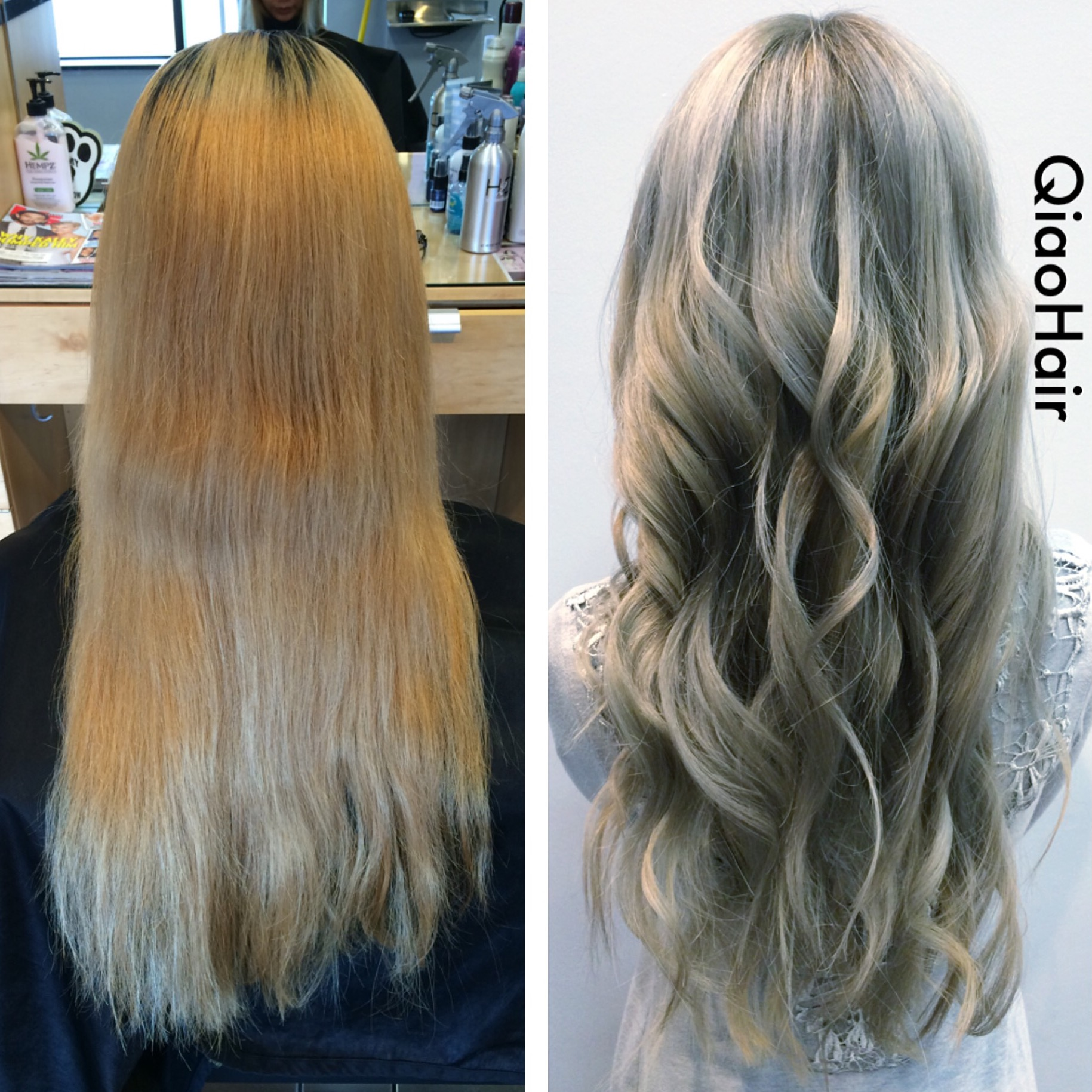 TRANSFORMATION Blonde To Rooty Silver Blonde Career